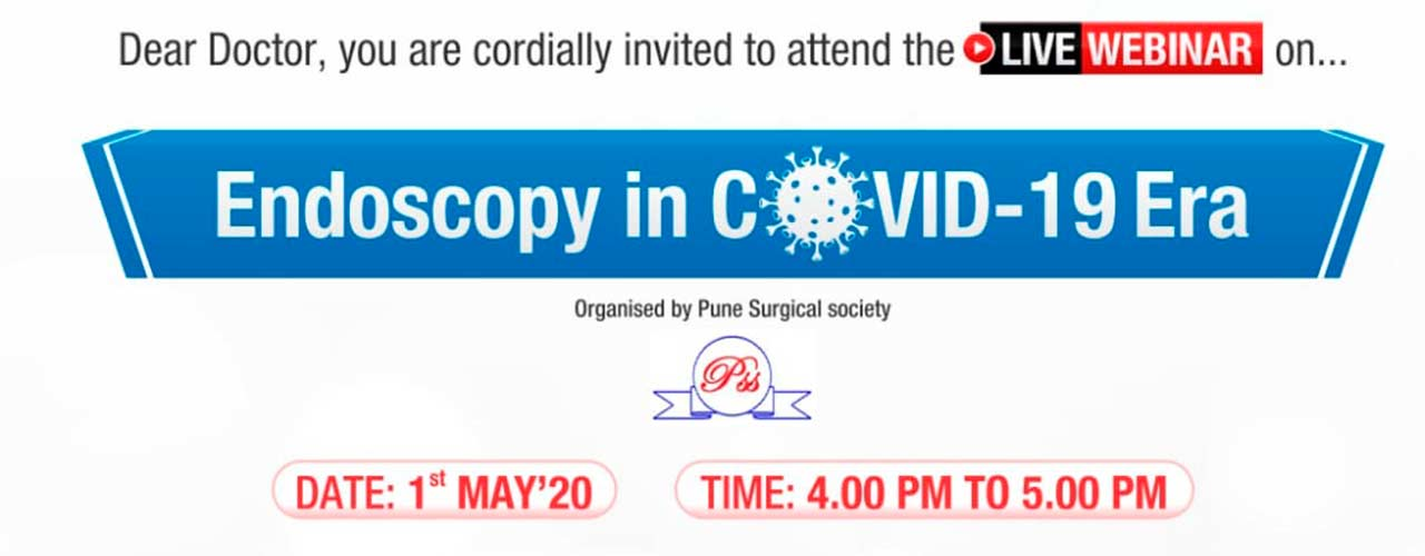 Webinar  on Endoscopy in COVID 19 Era on 1st May 2020