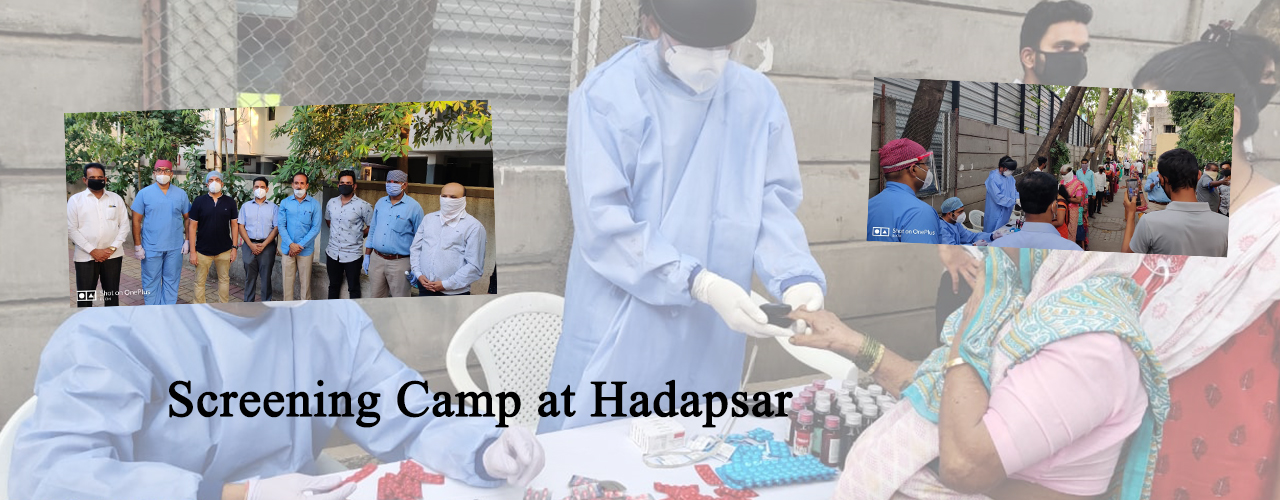 Screening Camp at Hadapsar for Covid 19 Infection